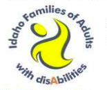 Idaho Families of Adults with Disabilities logo.