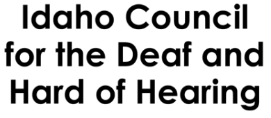 Idaho Council for the Deaf and Hard of Hearing logo.