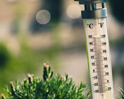 Hot temperatures.